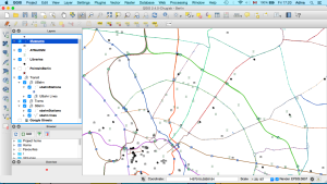 QGIS with imported layers
